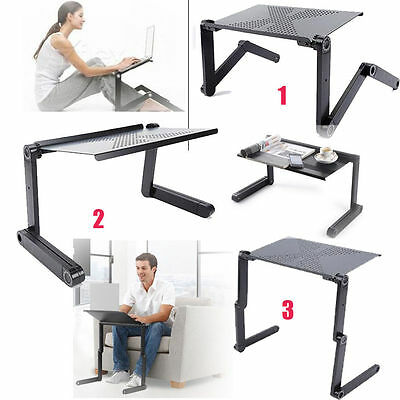 Adjustable Portable Laptop Stand Lazy Lap Sofa Bed PC Notebook Desk Table Tray • 16.96£