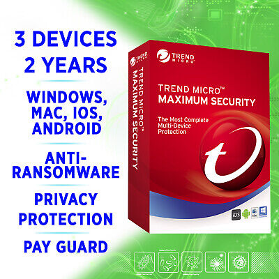 Trend Micro Maximum Security 2020 3 Devices 2 Years Full Edition / MULTIDEVICE • 6.99£