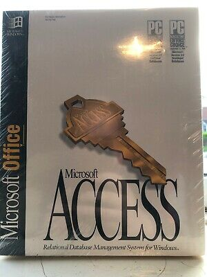 Microsoft Office & Access Windows 2.0 Edition 3.5 Disks 1994 Software Vintage NE • 199£