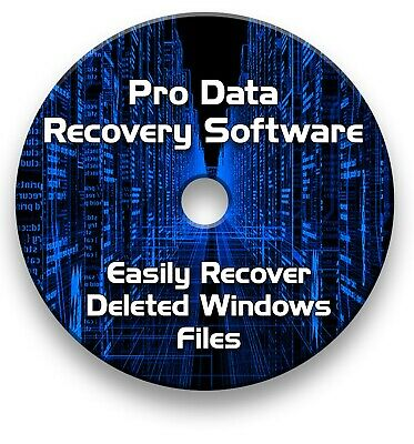 Pro File Recovery Rescue Data, Files, Music, Photos - Recovery Cd • 4.99£