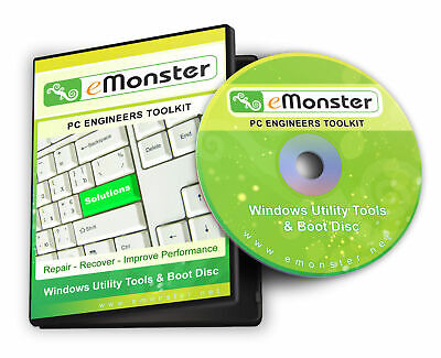 Recovery, Repair, Fix, Utilities & Boot Engineers Disc For Windows XP/Vista/7/8 • 2.99£