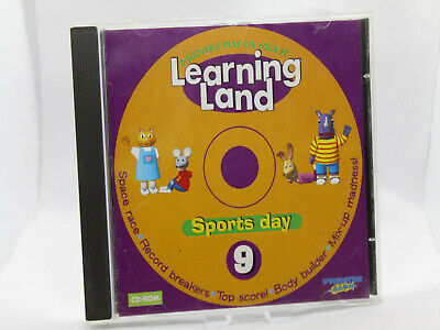 ✔️📀 Retro Learning Land 9 Sports Day Pc Cdrom - Kids Software Uk Seller • 3.99£