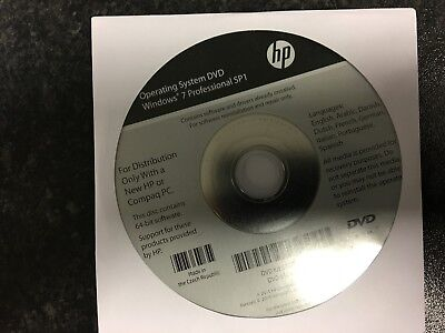 HP Win 7 Pro Operating System DVD NEW UN-OPENED • 10.99£