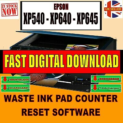 Epson Xp540 Xp640 Xp645 Waste Ink Pad End Of Service Life Reset Fix Download New • 4.99£