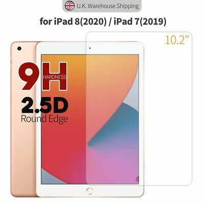 For Apple IPad 8th 10.2  (2020) 7th 2019 Gen Tempered Glass Screen Protector • 3.98£