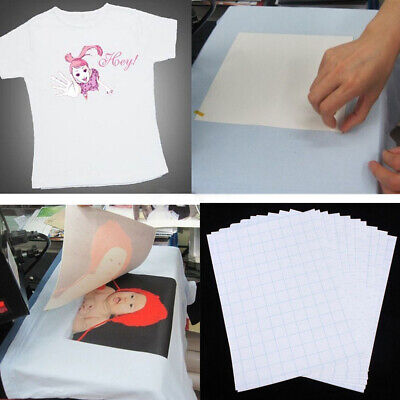 10Pcs A4 Heat Transfer Paper For DIY T-ShIrt Painting Iron-On Paper Light Fabric • 5.24£