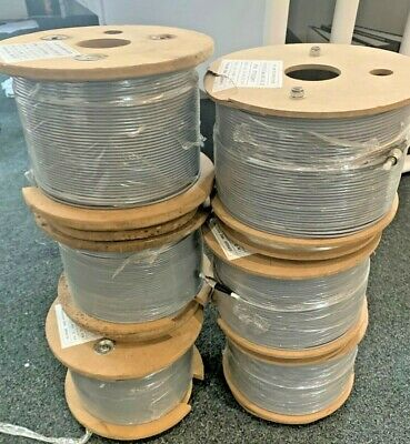 100MM Reel Fibre Steel/a FC/PC Fibre Optic Cable 3mm Diameter • 35£