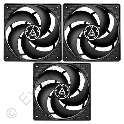 3 X Pack Arctic P12 Pressure-Optimised 120mm Case Fans 1800 RPM 56.3 CMF 3-Pin • 13.96£