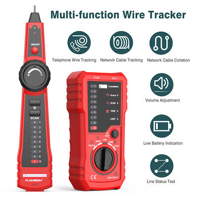 Network Wire Tester Cable Tester Wire Tracker Check Wire Measuring Instrument • 16.99£