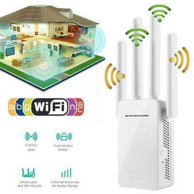 WIFI Extender Repeater 300Mbps Dual Band Wireless Router Range Signal Booster UK • 14.50£
