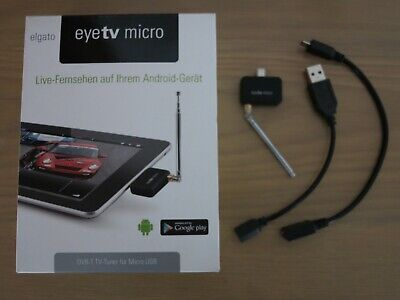 Elgato EyeTV Micro, TV Tuner Freeview For Android Devices (Micro USB) • 38£