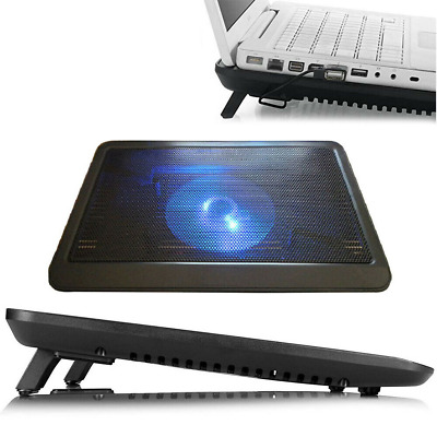 Ultra Slim Cooling Mat Stand Cooling Pad For Notebook Laptop Quiet Cooling Stand • 12.99£