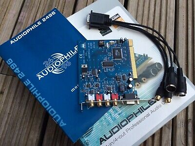 M-Audio Audiophile 2496 PCI Card With MIDI / SPDIF Breakout Cable. Box & Manual • 29£