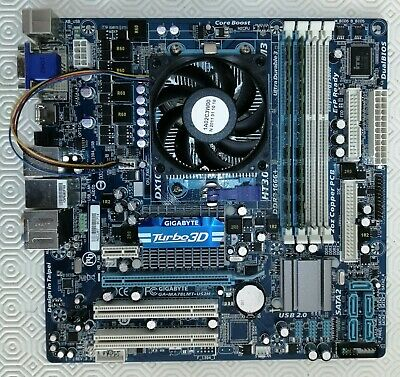 Gigabyte GA-MA78LMT-US2H Rev.3.5 AMD 760G Mainboard With CPU And RAM • 34.99£