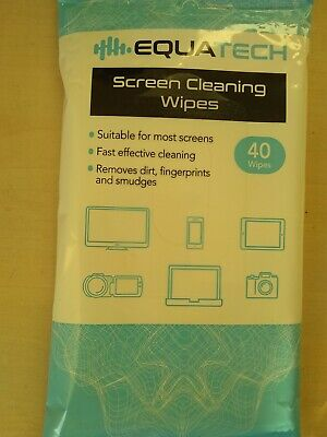 40 X Ethanol Based Screen Cleaning Wipes Computer TV Tablet  Fast & Effective • 3.59£