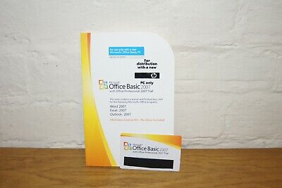 Microsoft Office 2007 Basic Version Word Excel • 10.95£