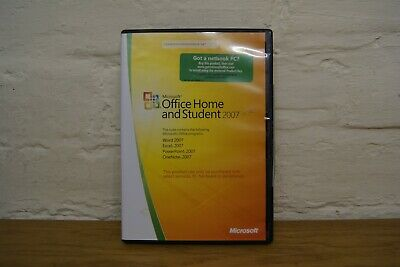Microsoft Office Home And Student 2007 Word Excel Powerpoint Onenote • 14.95£