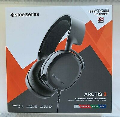 SteelSeries Arctis 3, All-Platform Gaming Headset For PC, PlayStation 4, Xbox • 12.50£