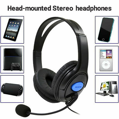 Gaming Headset With Microphone Stereo Headphones Earphone For PS4 Wired UK • 9.11£
