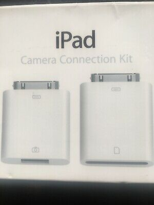 Apple Genuine IPad Camera Connection Kit. Original 30 Pin To USB And SD Adapter • 9.99£