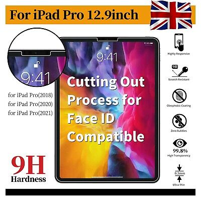 Tempered Glass Screen Protector For IPad Pro 12.9 11 2020 2018 10.5 9.7 ApeBest • 5.39£