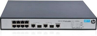 HP (JG537A) OfficeConnect 1910-8-PoE+ - 8 RJ-45 2 SFP Switch New • 36.99£