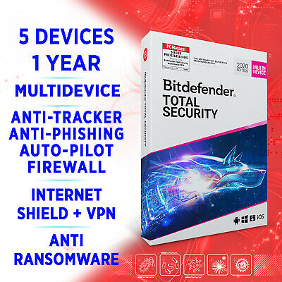 Bitdefender Total Security Multidevice 2020 5 Device 1 Year FULLEDITION Key +VPN • 19.68£