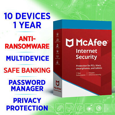 McAfee Internet Security - Unlimited Devices - 1 Year FULL KEY / Win Mac Android • 6.75£