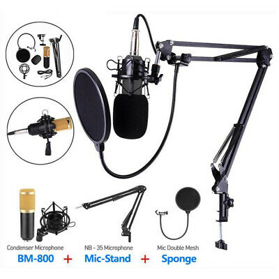Universal Recording Microphone USB Streaming BM-800 Podcast For PC Scissor Boom • 22.44£