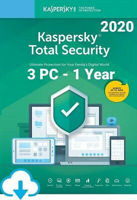 Kaspersky Total Security 2020 For 3 PC / Devices 1 Year Download Key EU • 14.80£