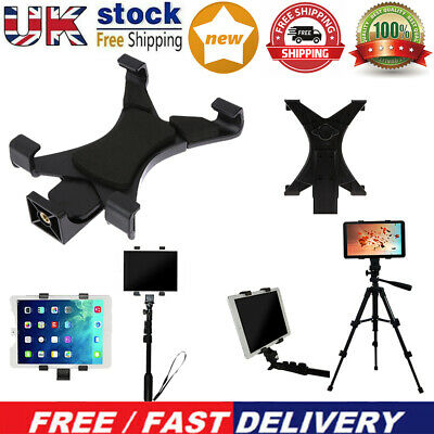Tablet Tripod Mount Clamp Holder Bracket 1/4in Thread Adapter For 7-10.1 IPad UK • 4.99£