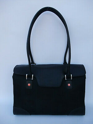 WENGER SWISSGEAR Womens Laptop Tote With Padded Sleeve & Compartments Black  • 25£
