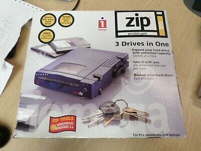 Iomega Zip 100 Drive - Parallel, Boxed With Disks (910) • 49.99£