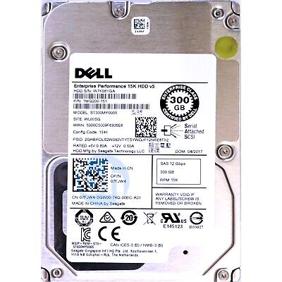 Dell 7FJW4 300GB Enterprise Perfomance SAS-3 SFF 2.5 12Gbps 15K 128MB HDD New • 39.99£