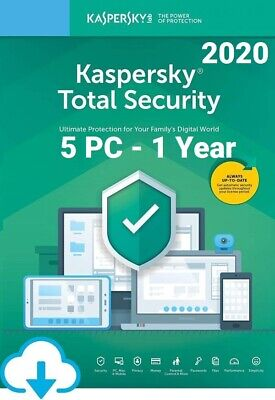 Kaspersky Total Security 2020 For 5 PC / Devices 1 Year Download Key EU • 20.80£