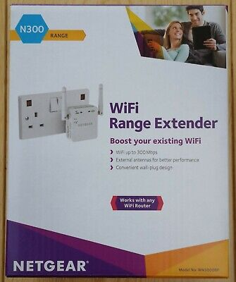 Netgear N300 WiFi Range Extender - Good Working Condition - Boxed • 12.49£