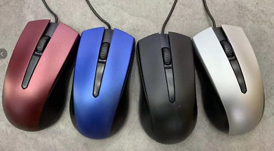 USB Red Wired Mouse Optical Mice Adjust 2000DPI Scroll Wheel For PC Laptop • 3.99£