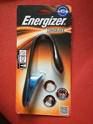 BNIP Energizer Energi LED Booklite CLIP On Torch With 2 X Batteries • 5.99£