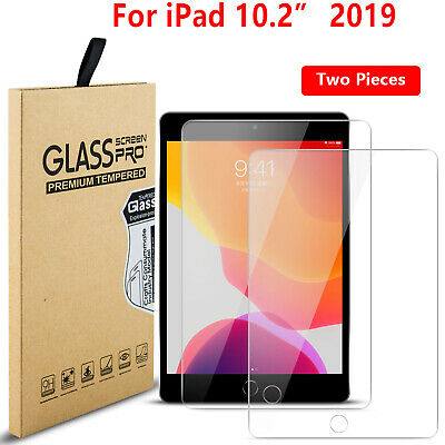 2 Pack Tempered Glass Screen Protector For Apple IPad 10.2 (2019) 7th Generation • 4.49£