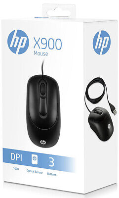 HP Business Office USB X900 Optical Mouse For PC/Computer/Laptop QUICK DISPATCH • 7.90£
