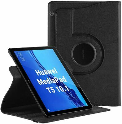 For Huawei MediaPad T5 Case Stand Cover 360 ° Rotating (10.1 ) • 6.95£