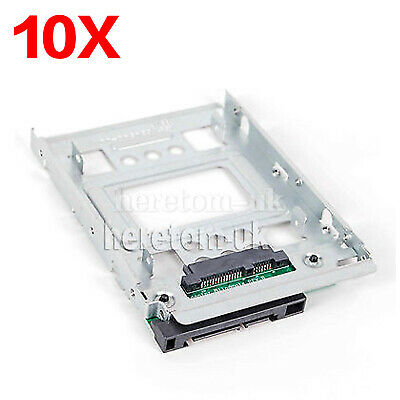 10*HP 2.5 SSD To 3.5 SATA Adapter Converter Tray SAS HDD Brackets Bay 654540-001 • 89£