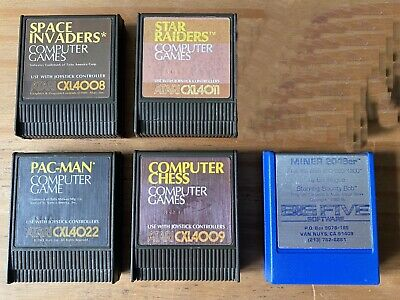 Selection Of 5 Cartridges For Atari XL/400/600 Retro Computers • 11.50£