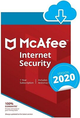 McAfee Internet Security 2020 | 1 Year | Windows/MacOS/Android/iOS • 5.89£