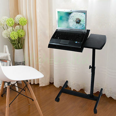 Adjustable Portable Laptop Table Stand Folding Computer Desk Sofa Bed Tray NEW • 23.99£