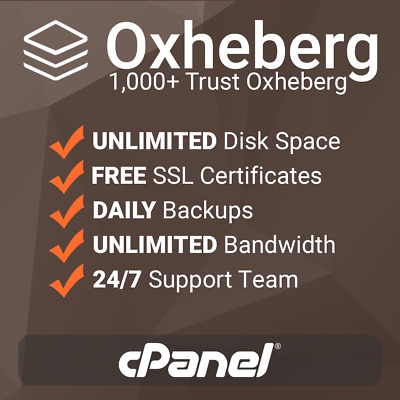1 Year Unlimited SSD Website Web Hosting, CPanel Based With Free SSL's + Support • 7.99£