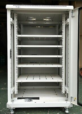 Free Standing Network Or Server Cabinet 18u 600x600 5 Shelves And Glass Door. • 50£