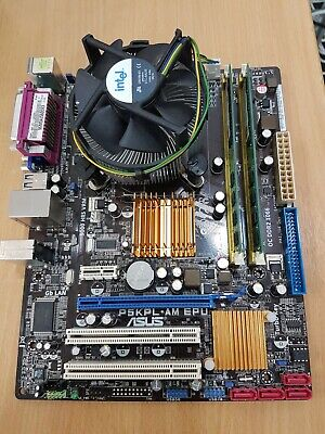 ASUS P5KPL- AM EPL With CPU And RAM • 0.99£