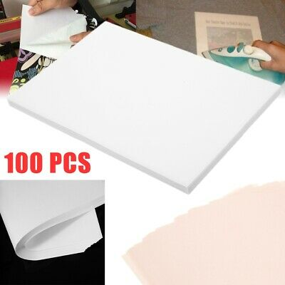 100Pcs A4 Iron On Inkjet Print Heat Press Transfer Paper Light Fabric T Shirt GI • 11.99£