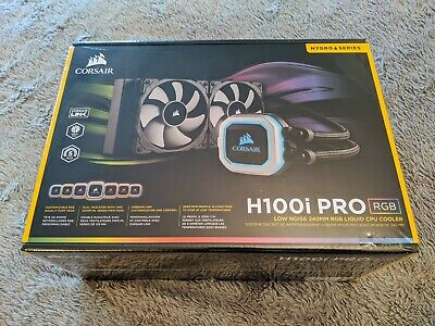CORSAIR H100i PRO RGB 240MM AIO Intel/AMD CPU Water Cooler (SEALED BRAND NEW) • 24£